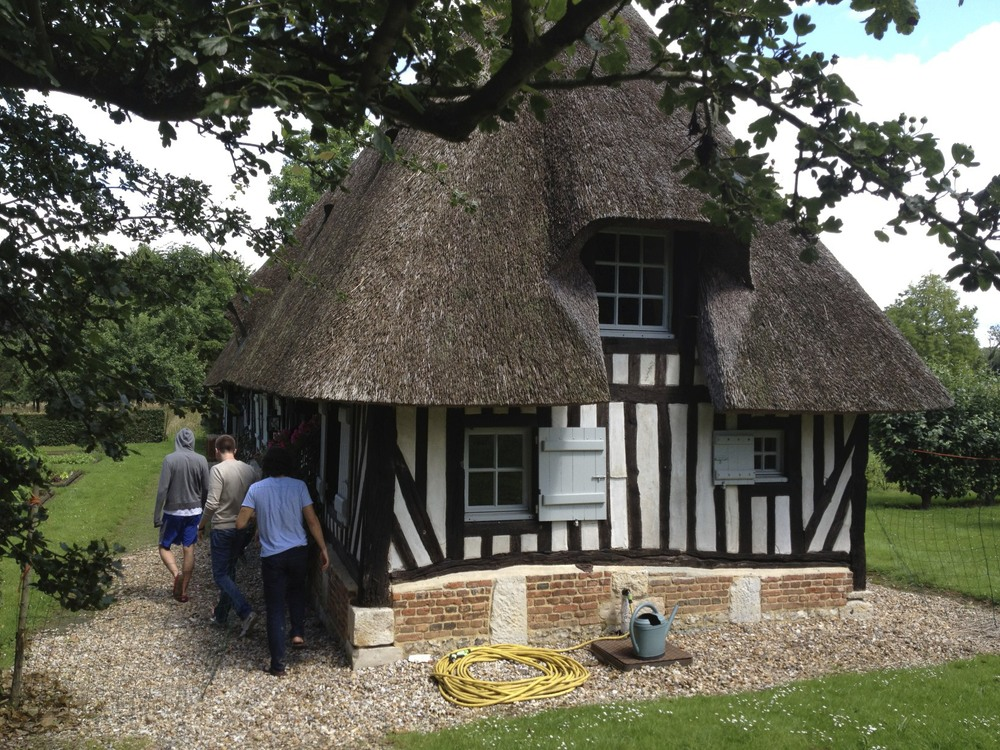 The boys' house at Eléonore's in Normandie.