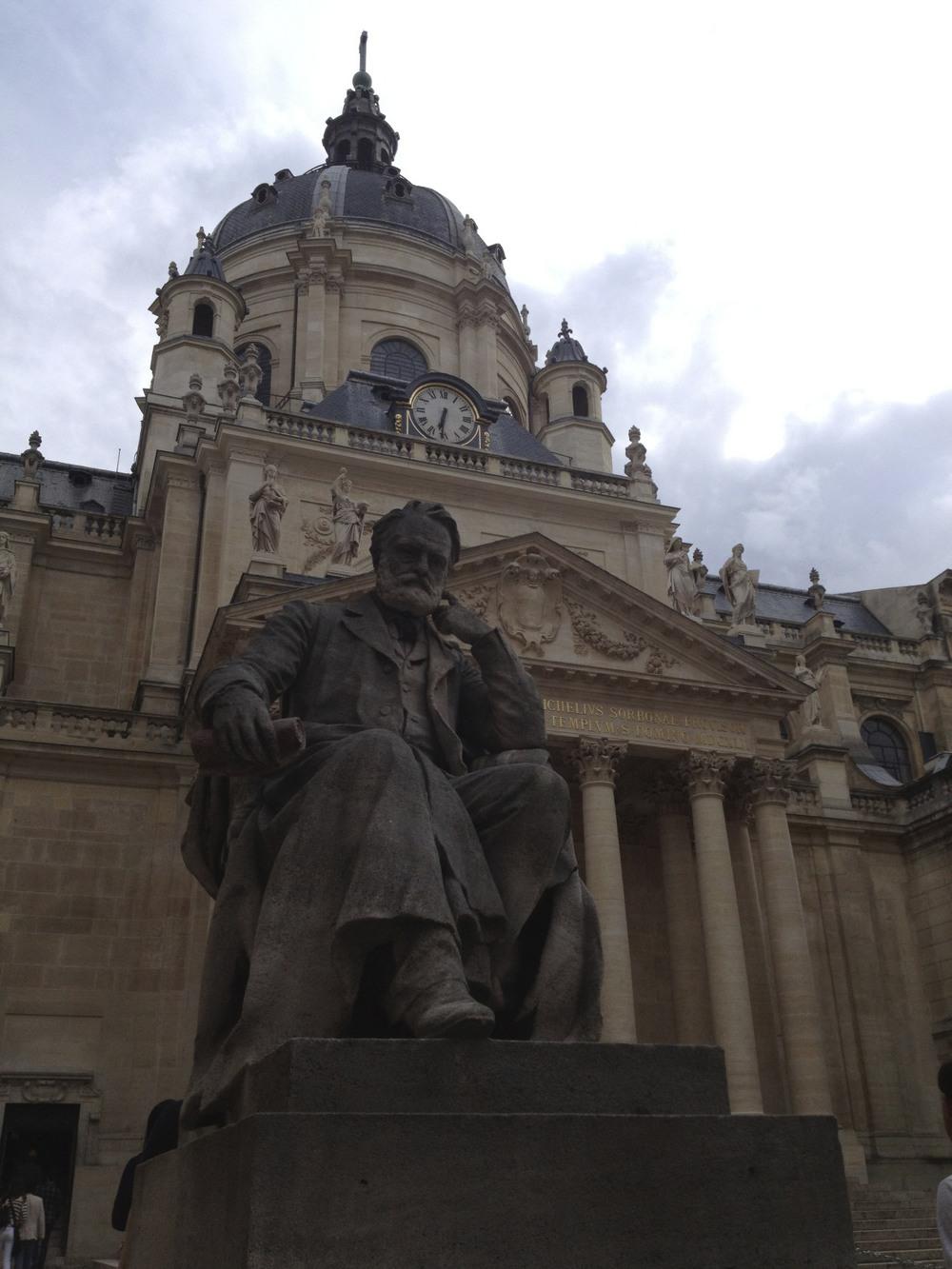 Outside the chapel at La Sorbonne.