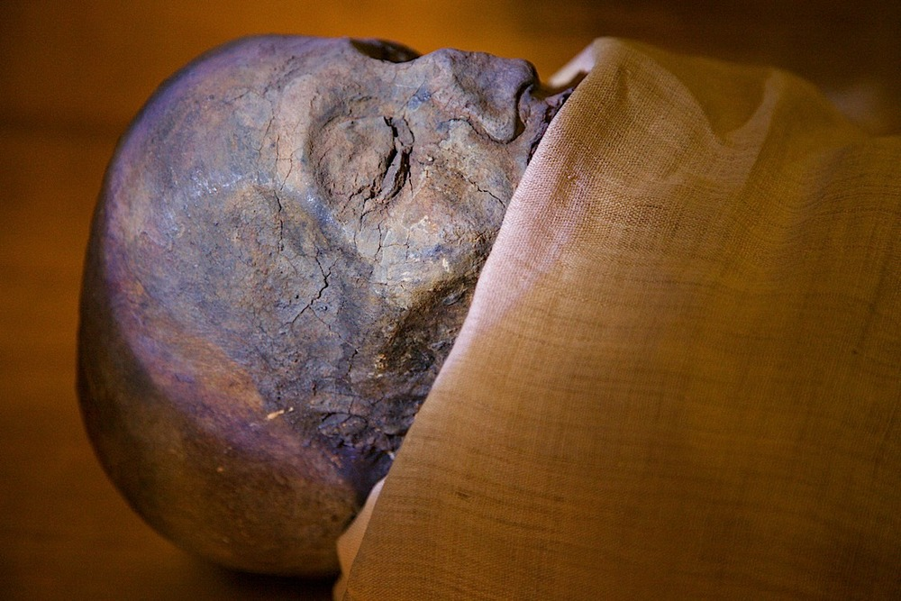 If I remember right, this is the mummy of one of the many guys named Imhotep. At Saqqara, about 40mins south of Cairo.