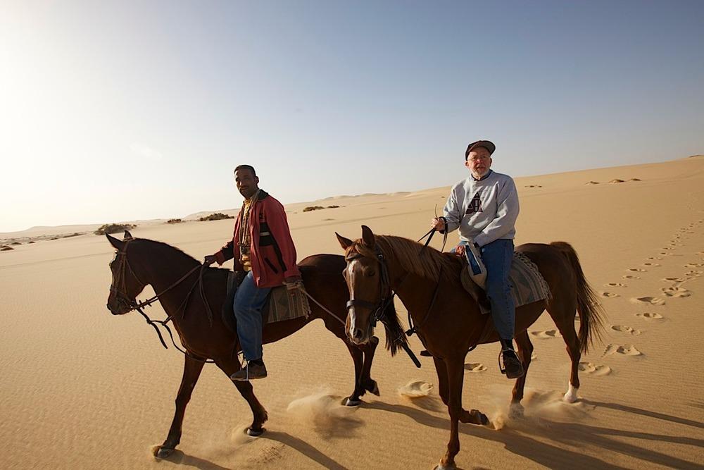 Morning horseback-riding at Siwa, about 40k from the Libyan border.