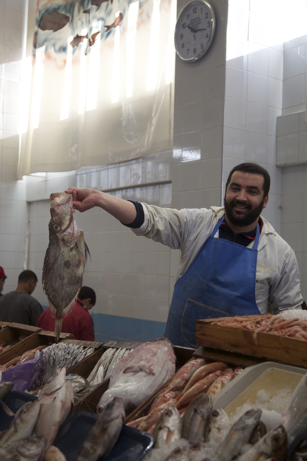 Proud fish-seller in Tangier.