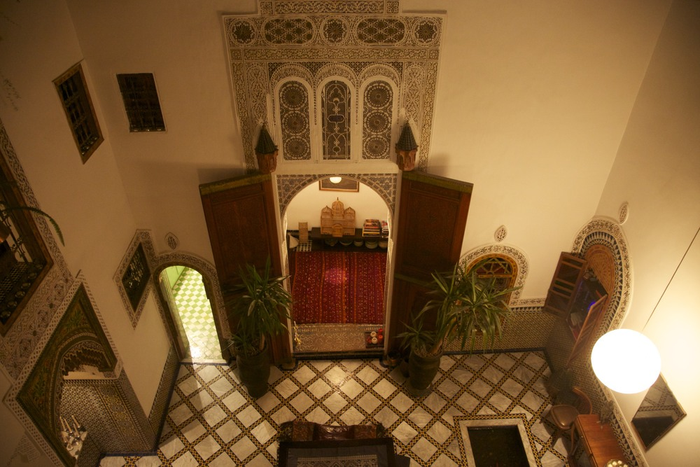 Inside our little riad in Fes.