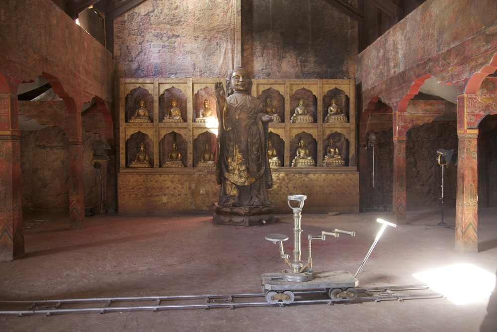 "Didn't expect this in Morocco?  A set from Scorcese's ""Kundun"" at Atlas Studios in Ouarzazate."