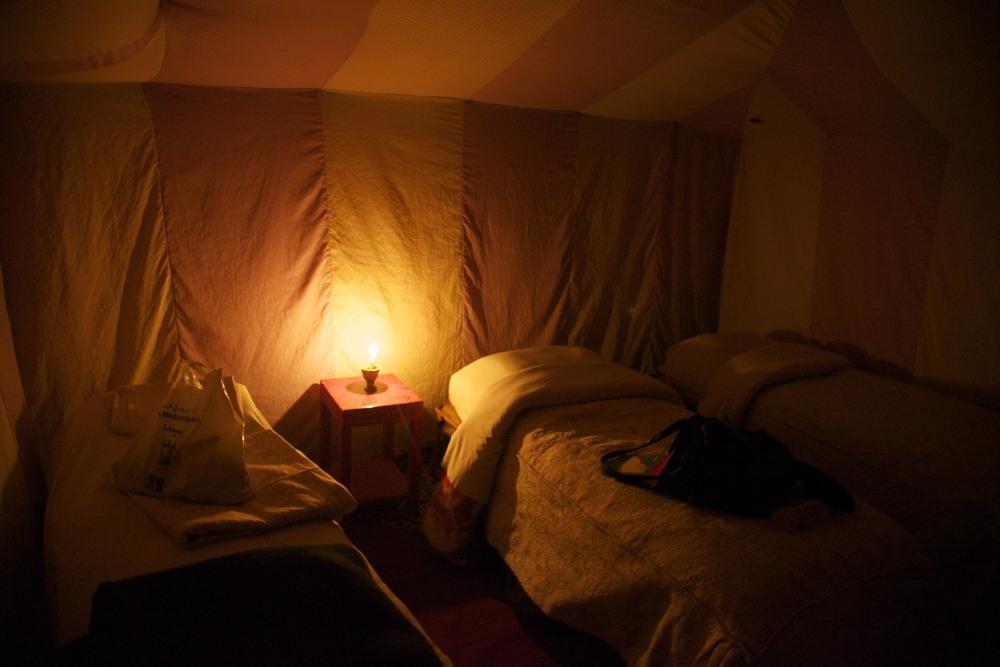 Desert bedroom tent.