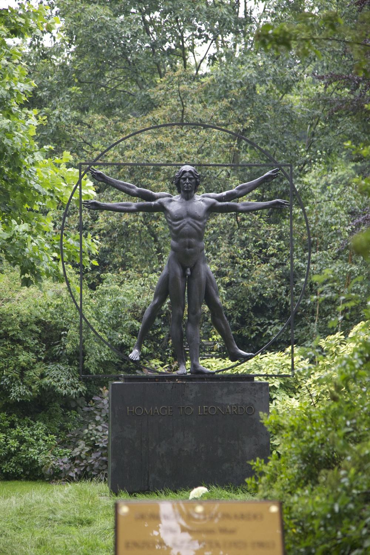 Cool sculptural Vitruvian Man I saw walking through Chelsea.