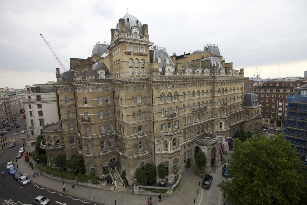 The Langham Hotel as viewed from BBC Broadcasting House roof.