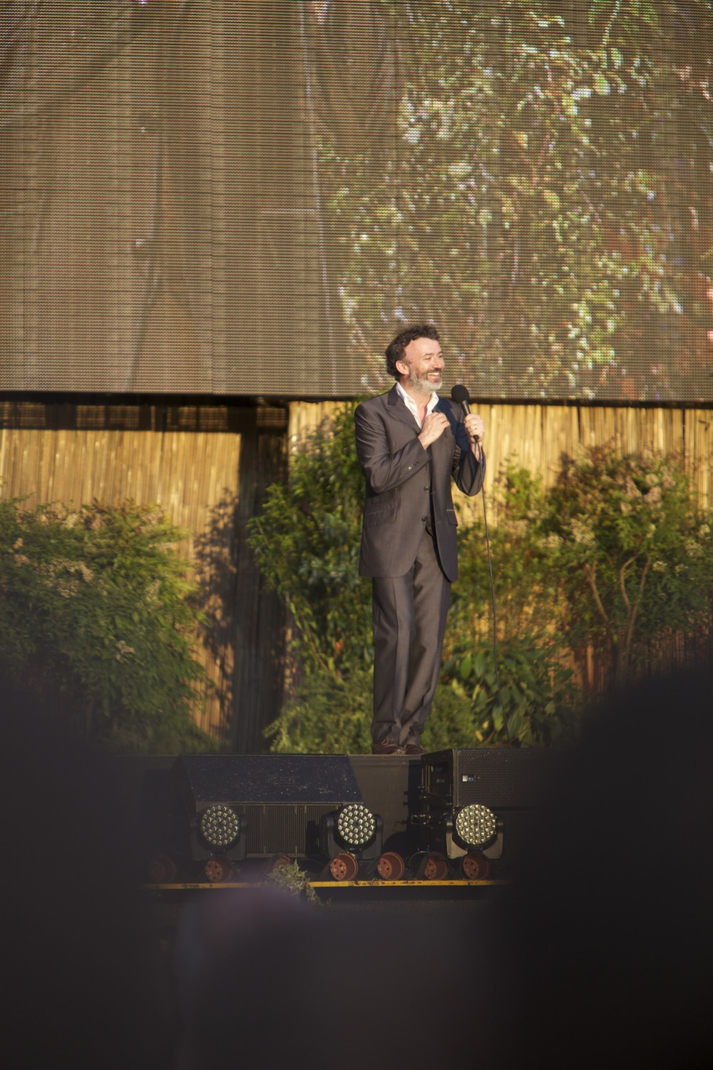 "Tommy Tiernan performing at ""Laughs in the Park"" in St. Albans."