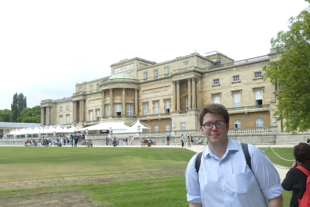 In the garden of Buckingham Palace today after class.  I got to go inside the palace, but they didn't allow pictures.