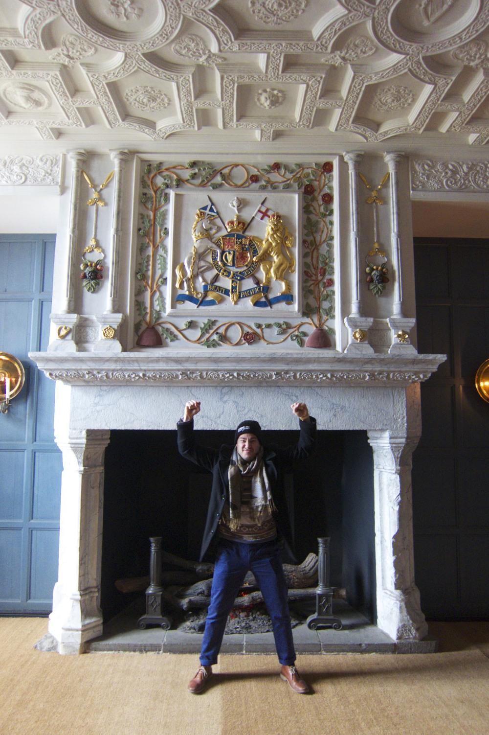 My buddy David in Edinburgh Castle. (Edinburgh, Scotland.)