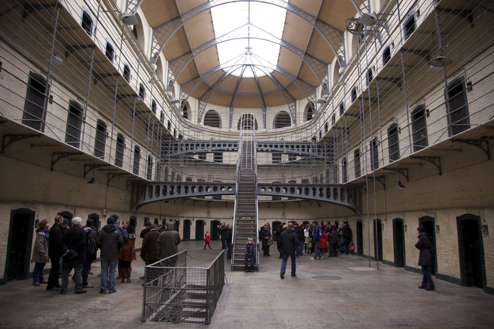 "The newer wing of Kilmainham Gaol, filming-site of ""In the Name of the Father,"" a fantastic movie.  (Dublin, Ireland.)"