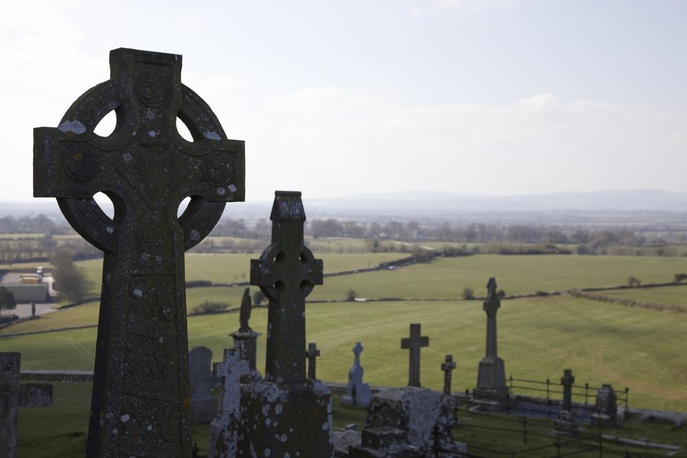 Graveyard by The Rock of Cashel. (Cashel, Ireland.)