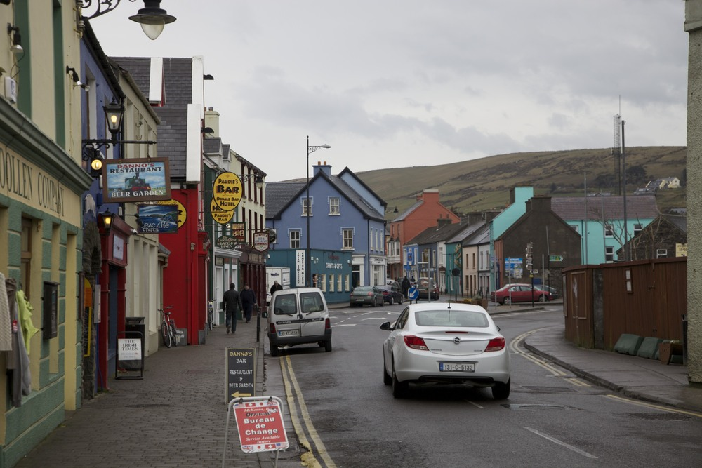The town of Dingle, where we had some lunch.  (Dingle, Ireland.)