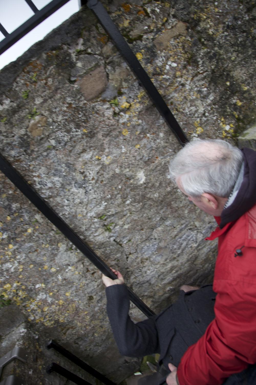 Me kissing the Blarney Stone. (Blarney Castle, Blarney, Ireland.)