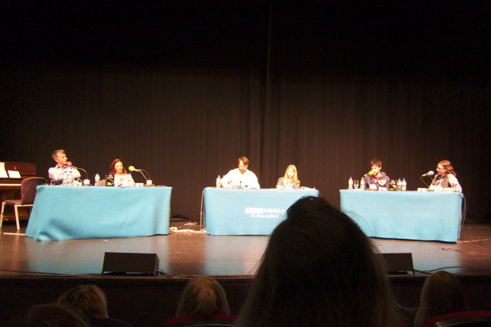 "More at the BBC Radio 4 taping of ""The Unbelievable Truth with David Mitchell.""  (London, England.)"