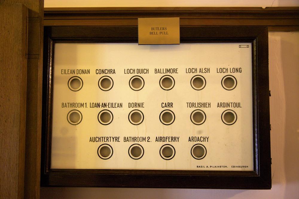 """A """"Butler's Bell Pull"""" in Eilean Donan Castle. (Near Dornie, Scotland.)"""