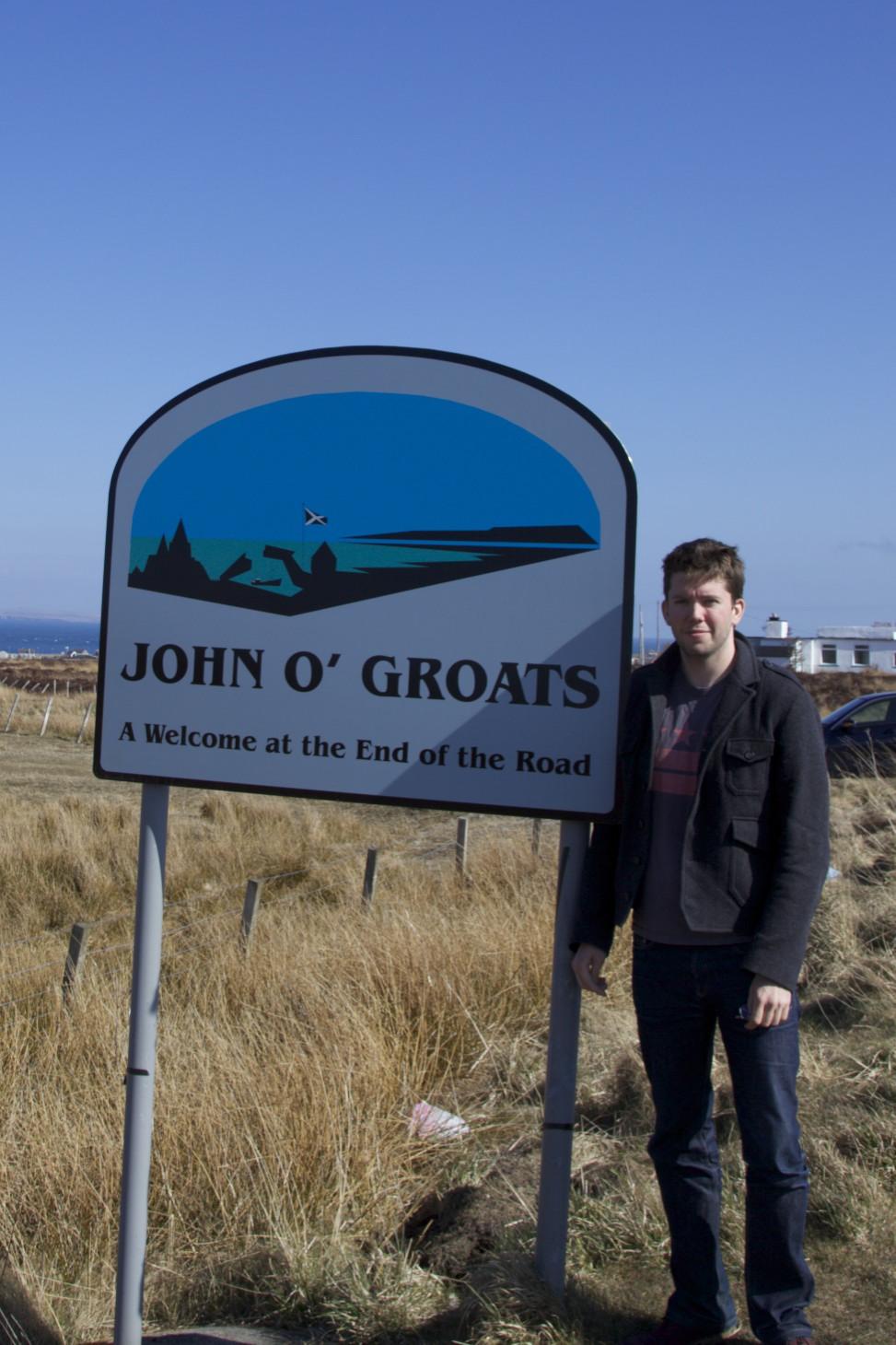 Me at John O'Groats. (Scotland.)