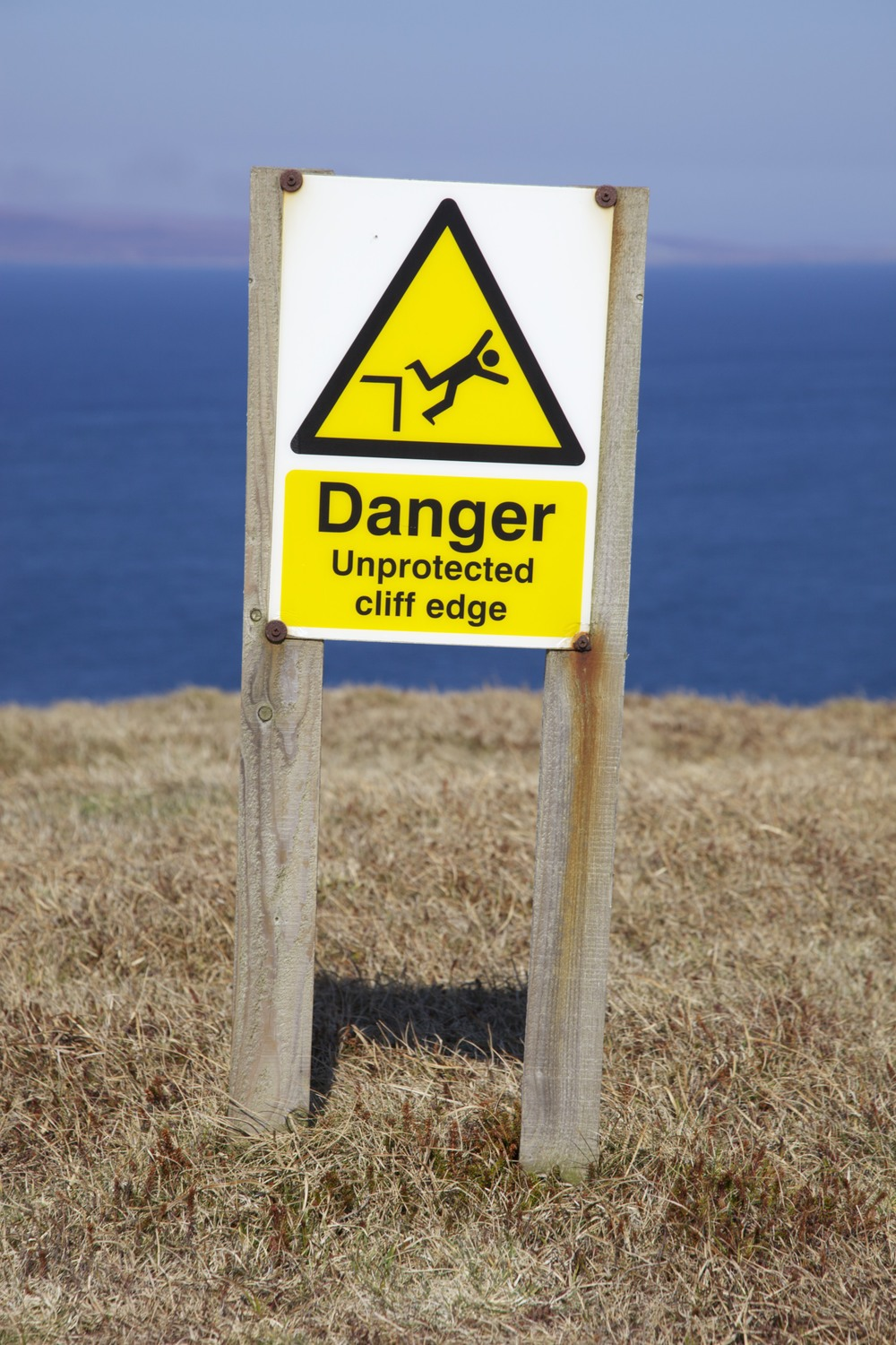 A worthwhile warning at Dunnet Head.  (Scotland.)