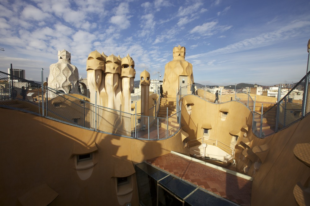 The roof of La Pedrera by Gaudí.
