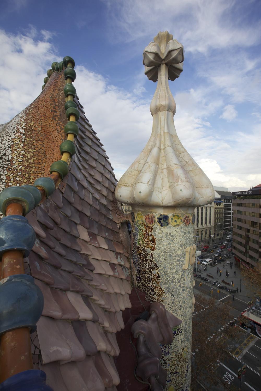 The roof of Casa Batllo by Gaudí.
