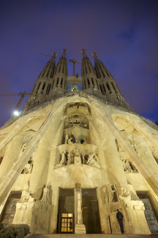 Exterior of La Sagrada Familia by Gaudí.