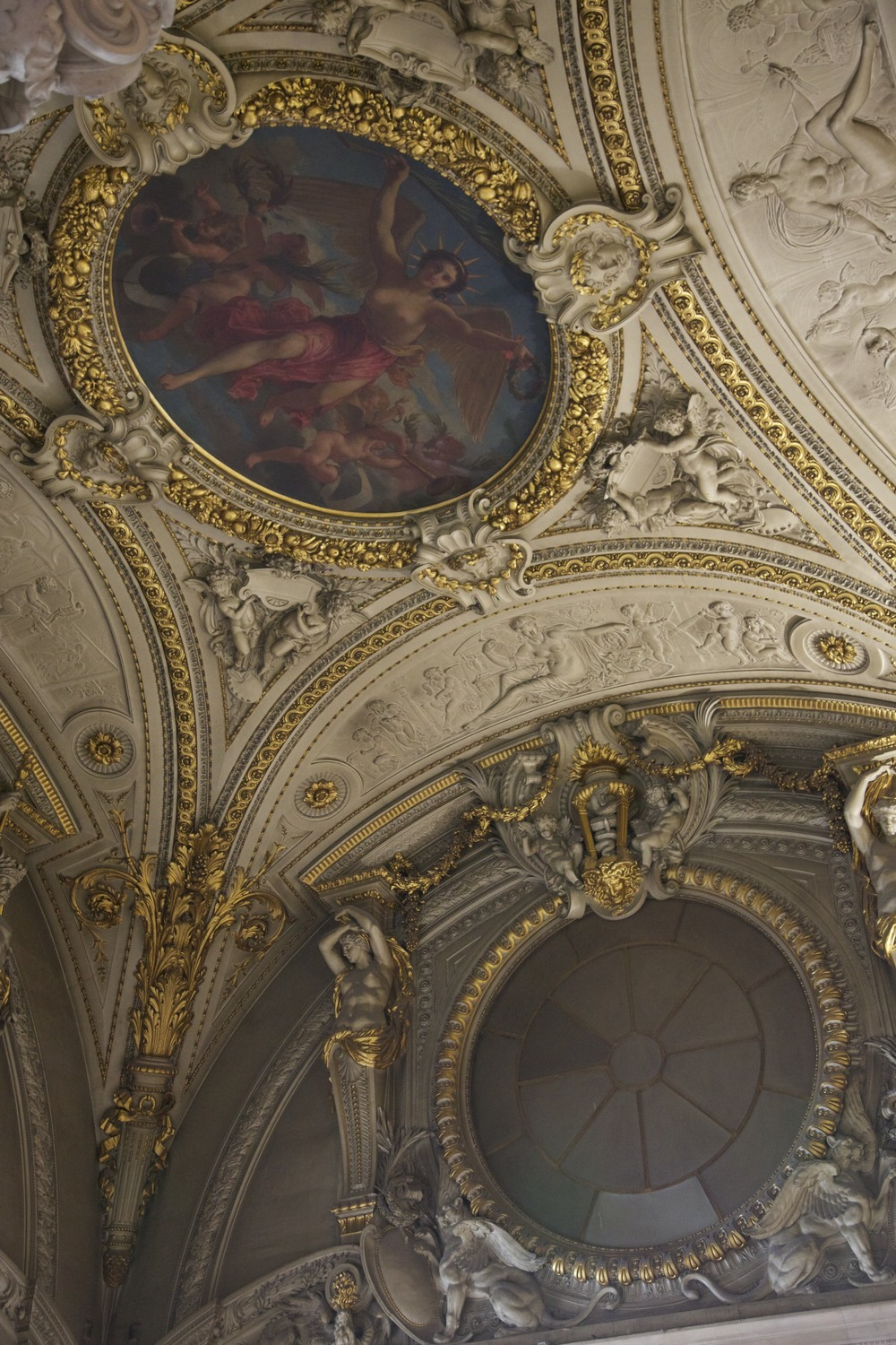 A ceiling at Le Louvre.