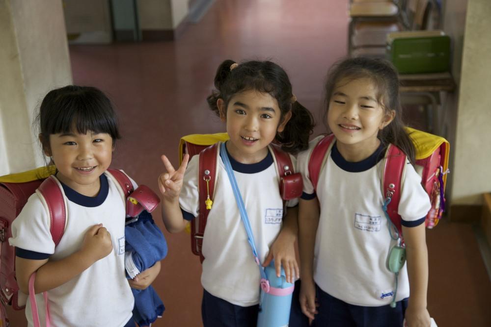 Kita-Shou first graders.
