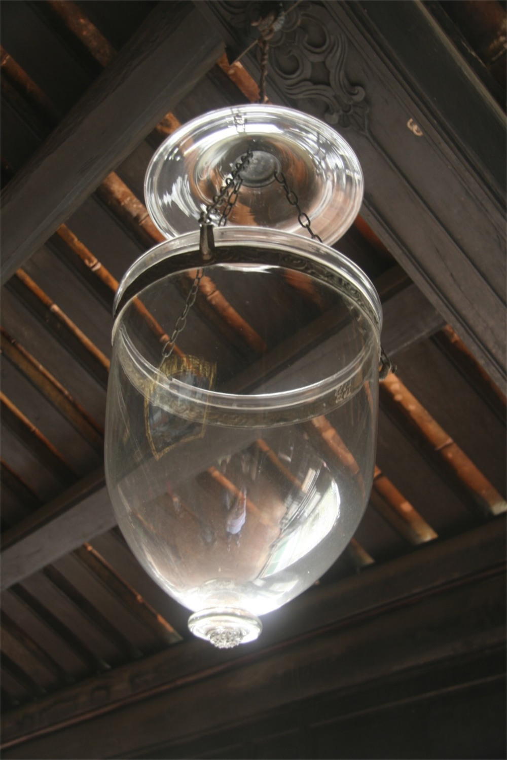 Cool glass lantern at the tombs in Hue.