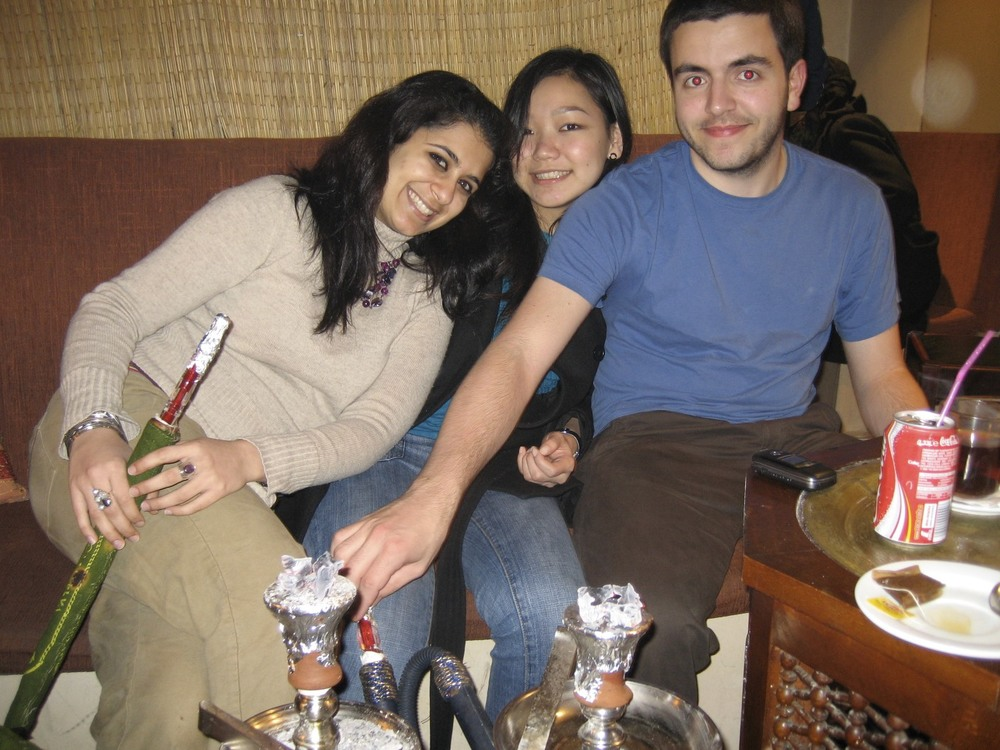Neha, Sandy, and Alex in the nook