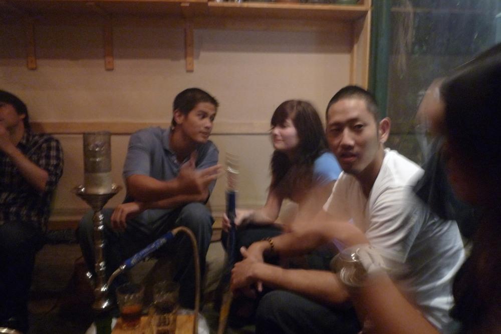 A previous visit to Shisha with Kelly, Michiyo, Arash, Megan, and Shintaro