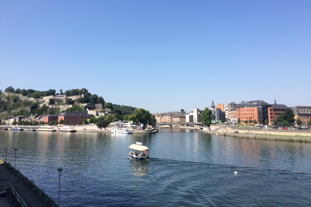Namur, Belgium, viewed from my ex-editor's husband's ex-apartment. (Enough exes?)