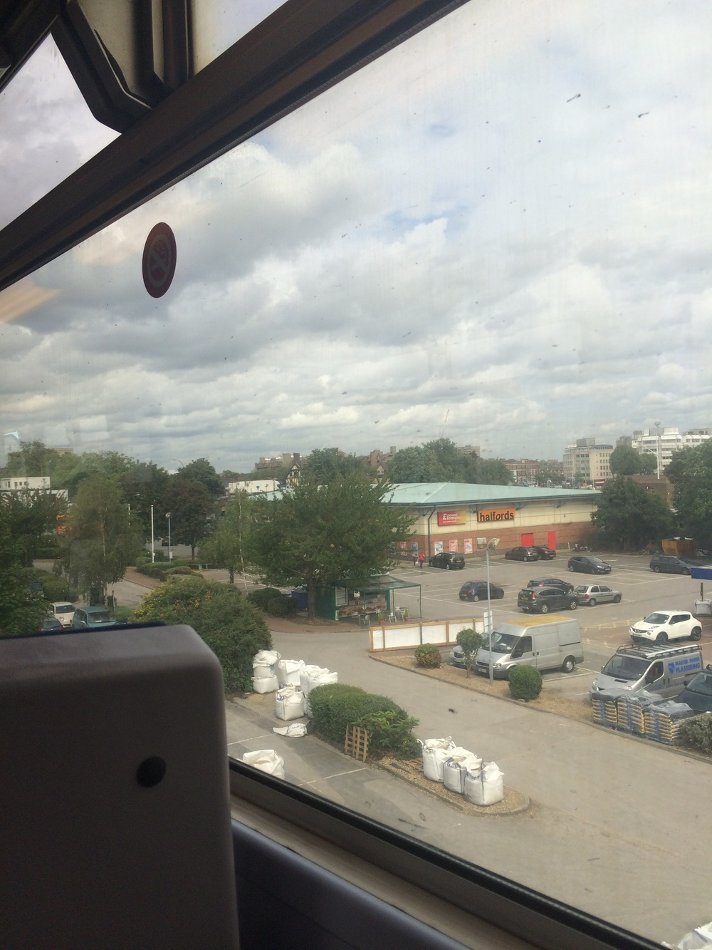 My [middle-]namesake store seen from the train. (Greater London, U.K.)