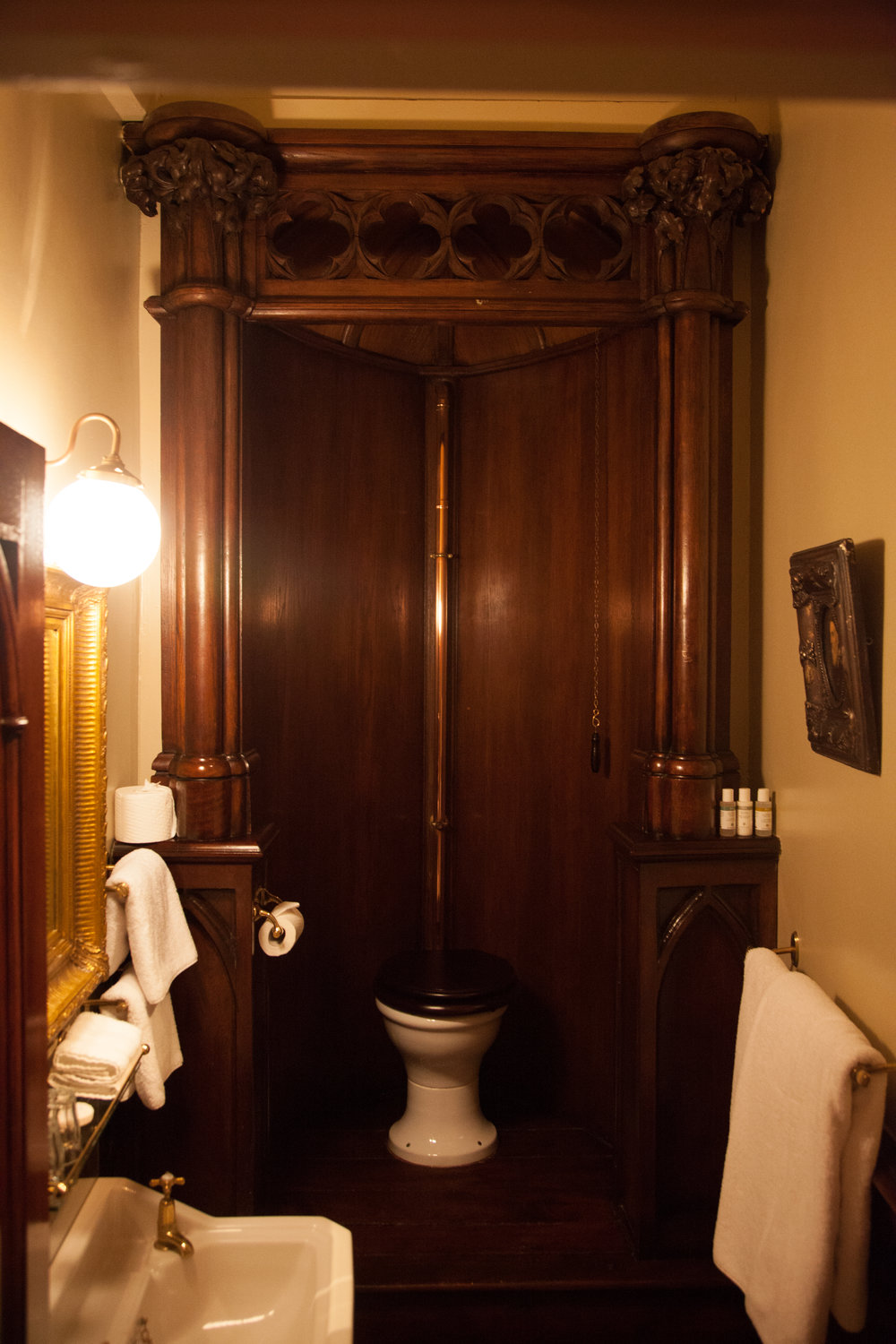 A heck of a toilet at The Rookery. (London, U.K.)