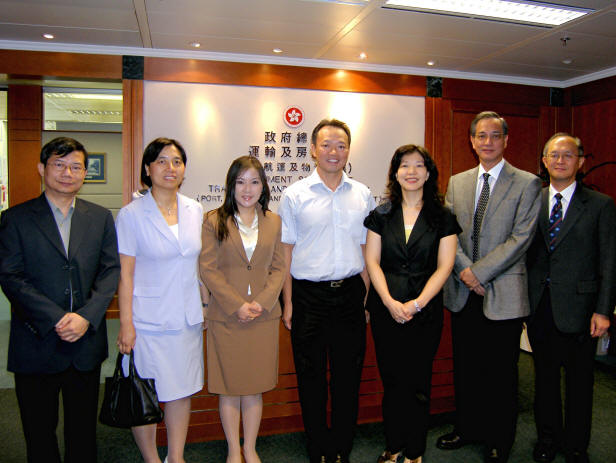 Visit to Ms Janice Tse   Date: 5 Sept 2008  Visit Deputy Secretary for Transport and Housing Bureau led by Chairman So Ping Chi.