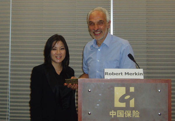 Seminar on Marine Insurance   Date: 13 June 2008  Speaker: Prof Robert Merkin accompanied by Ms Brenda Chark