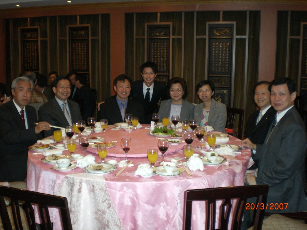 New Year Dinner   Date: 20 February 2007  Chairman Mr So Ping Chi and Secretary Mr Roy Chan had a dinner in Taiwan with people from shipping industry.