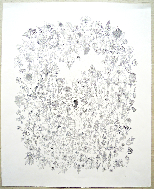 "Artist: Mollie Goldstrom  Title: Ambrosius  Condition: Original  Method: Pen and ink  Size: 22"" x 30"""