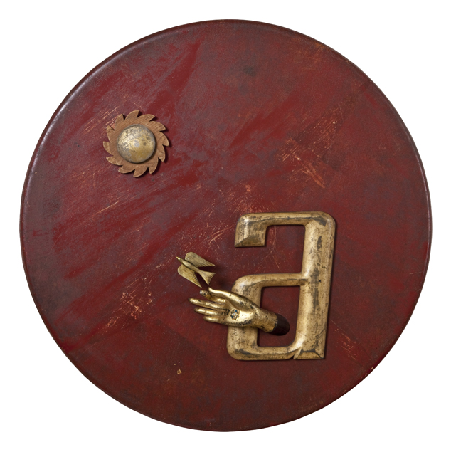 "Artist: John Sideli  Name: A is for Ark  Dimensions: 33"" diameter x x3 1/2"""