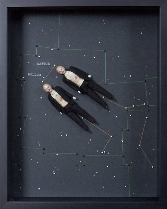 "Artist: John Sideli  Name: Castor & Pollux Gemini  Dimensions: 22 1/2"" x 17 3/4"" x 3 3/4"""