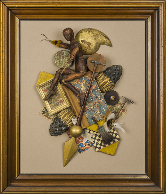 "Artist: John Sideli  Name: The Collector  Dimensions: 27"" x 24"" x 2 3/4"""