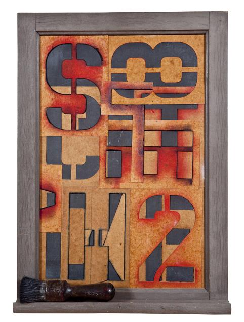 Artist: John Sideli  Name: Stencils  Dimensions: