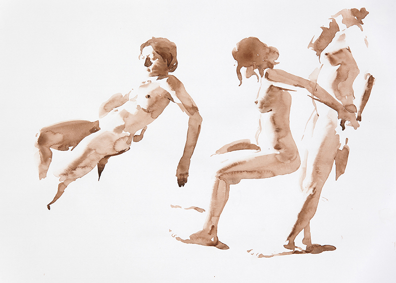 "Artist: Wendy Artin  Title: Giulia Three  Date: 2016  Size: 5 1/6"" x 7 5/6""  Method: Watercolor  Price:  Inquire"