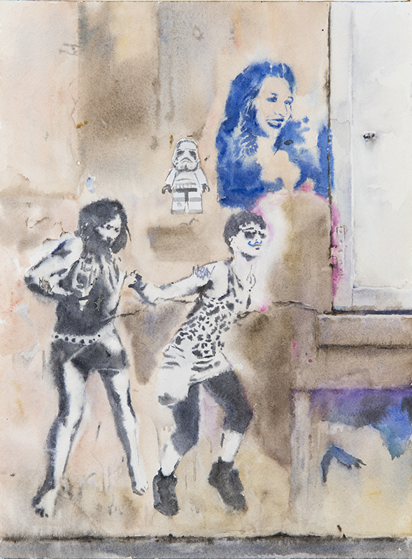 "Artist: Wendy Artin  Title: Paris On Danse  Date: 2017  SIze: 9"" x 12""  Method: Watercolor  Price:  Inquire"