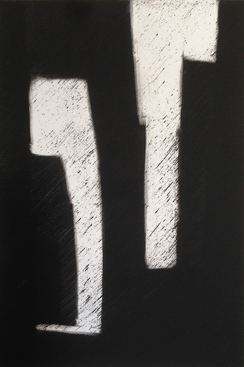 "Artist: John Hopkins  Title: Progression 3  Size: 10"" x 15""  Method: Monotype work on paper  Price:  Inquire"