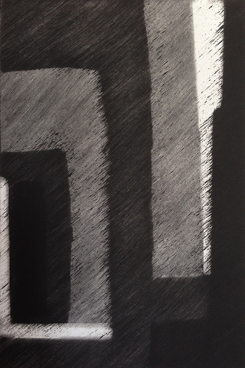 "Artist: John Hopkins  Title: Progression 9  Size: 10"" x 15""  Method: Monotype work on paper  Price:  Inquire"