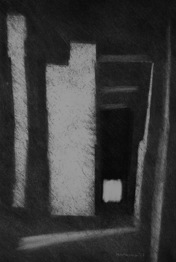 """Artist: John Hopkins  Title: Le-But  Size: 15"""" x 22""""  Method: Monotype work on paper  Price:  Inquire"""