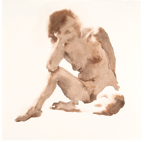 "Artist: Wendy Artin  Title: Laura Thinking  Date: 2018  Size: 9""x9 1/2""  Method: Watercolor  Price:  Inquire"