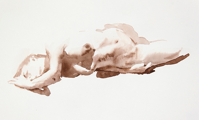 "Artist: Wendy Artin  Title: Calista Another Stretch  Date: 2018  Size: 8"" x 14""  Method: Watercolor  Price:  Inquire"