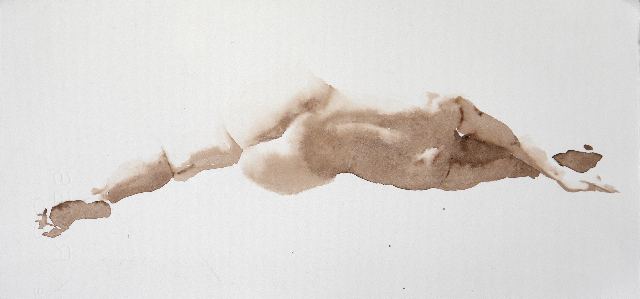 "Artist: Wendy Artin  Title: Laura Back Lying  Date: 2018  Size: 13 3/8"" x 6 1/4""  Method: Watercolor  Price:  Inquire"