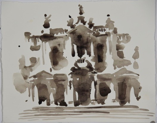 "Artist: Wendy Artin  Title: Santa Maria Maggiore  Date: 2016  Size: 7"" x 10""  Method: Watercolor  Price:  Inquire"