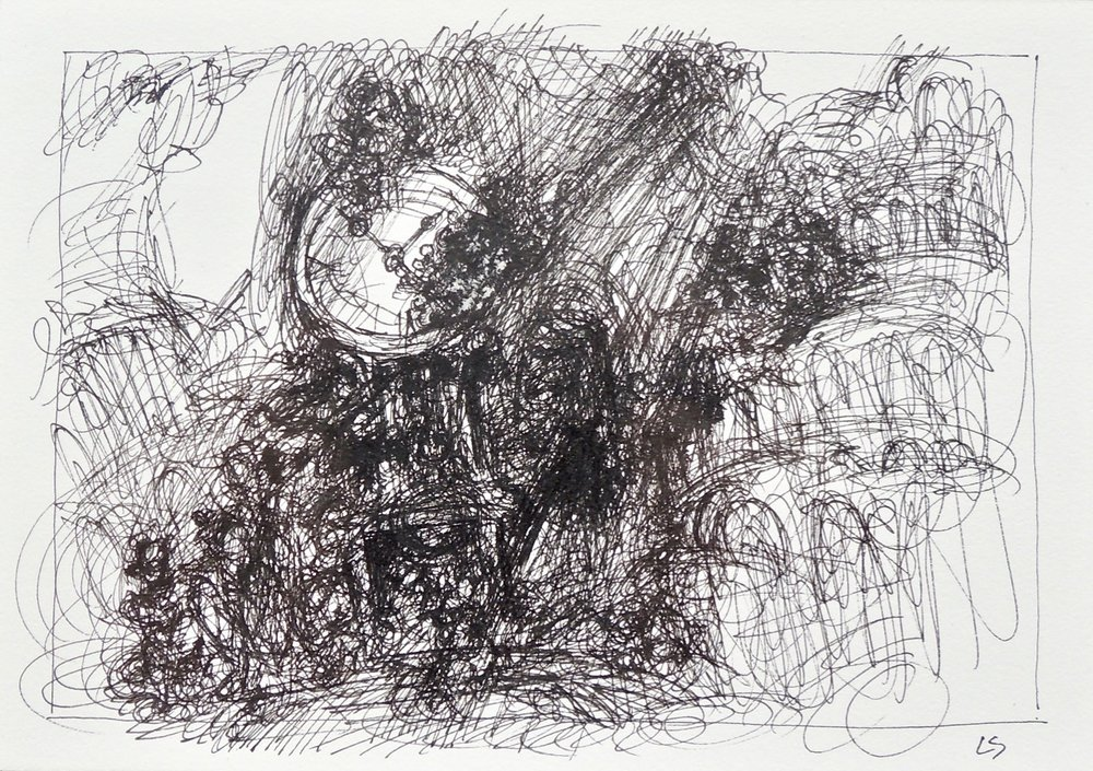 "Artist: Leon Steinmetz  Name: Time Piece 9  Size:4"" x 6""  Method: pen and ink  Condition: original  Price:  Inquire"